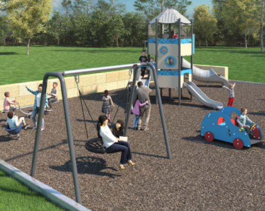 Salisbury Rec Reserve new playground April 2019