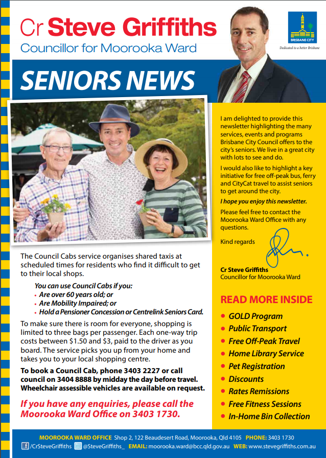 Seniors Newsletter page 1