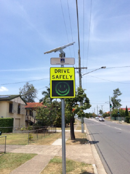 portable speed warning sign oxley rd nov 16